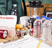 Emergency preparedness checklist and natural disaster supplies