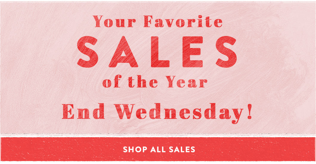 Your Favorite Sales End on Wednesday If Version