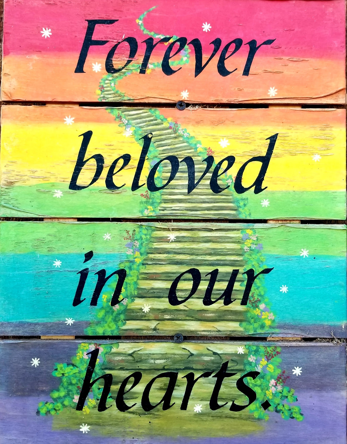 Forever beloved in our hearts sign