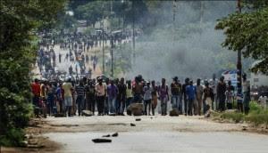 Protestors, Harare, 14 January 2019 (Newsday)