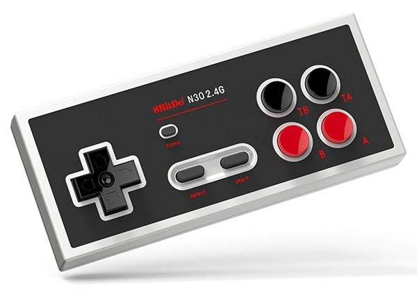 Controlador de jogo 8Bitdo N30 sem fio para NES Classic Edition