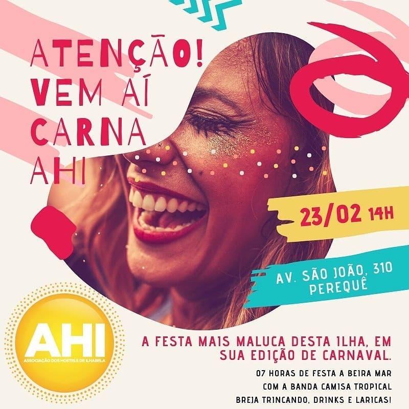 Carna AHI - A festa de carnaval da Associação de Hostels de Ilhabela
