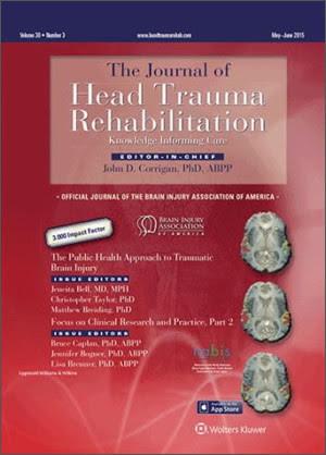 Journal of Head Trauma and Rehabilitation cover