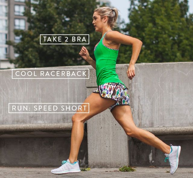 take 2 bra, cool racerback and speed short