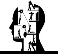Abstract image of building mental health