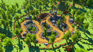 screenshot of a zoo built in our Online Summer Camp: Minecraft Edition