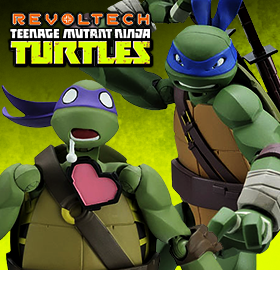 LEONARDO AND DONATELLO REVOLTECH FIGURES