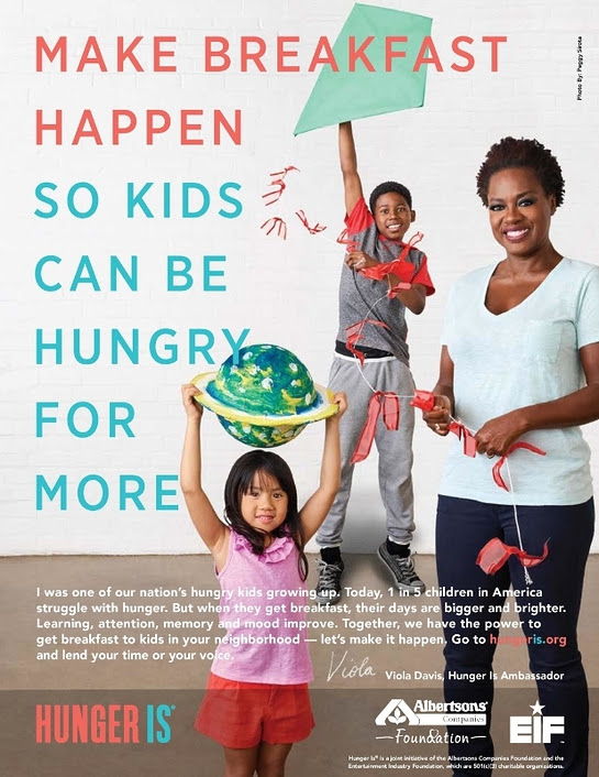 Hunger Is Ambassador Viola Davis supporting the fight to eradicate childhood hunger in the United States