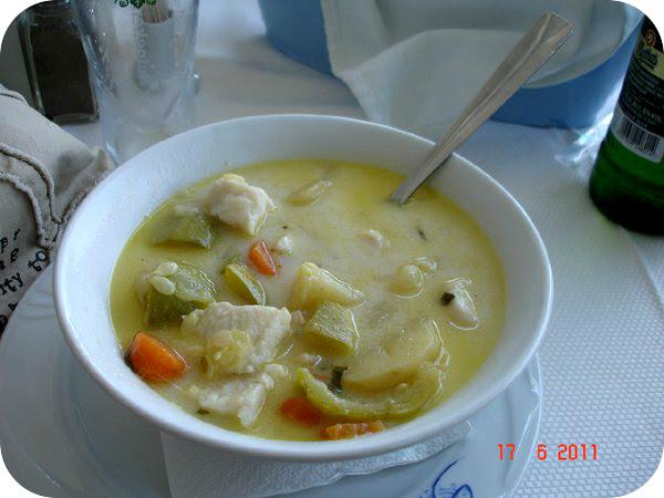 supa de peste la Simi in Thassos