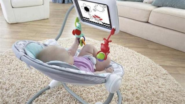 The Newborn-to-Toddler Apptivity Seat for iPad