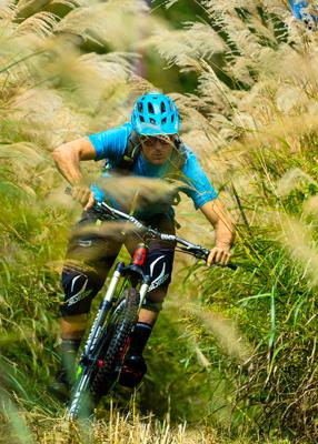 Shred and Slytech Sign Pro Skier and Mountain Biker KC Deane