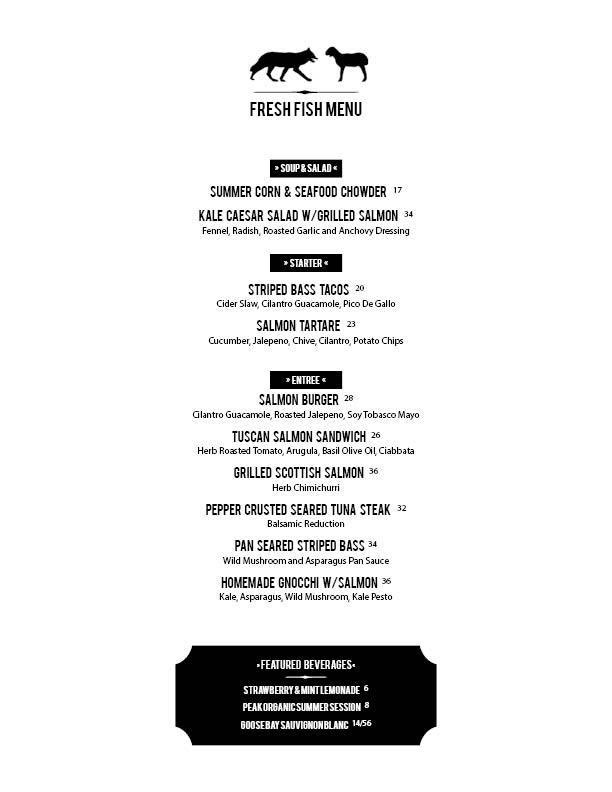 9 Day Menu - Dine In - 2014