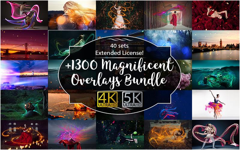 1300+ Magnificent Overlays Bundle
