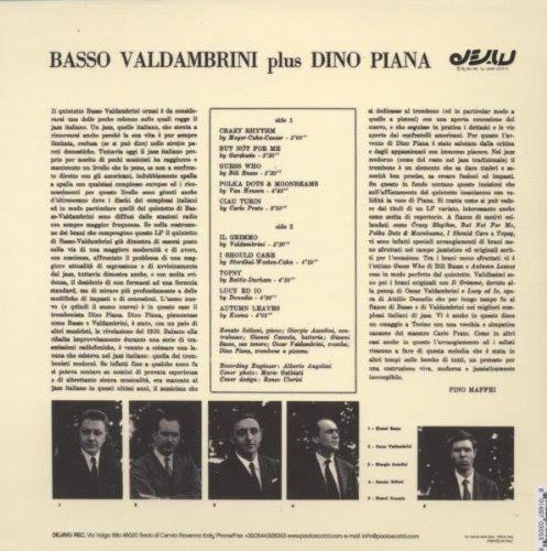 Basso Valdambrini Quintet* Plus Dino Piana - Basso Valdambrini Plus Dino Piana