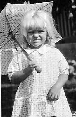 Matching dress, coat and umbrella 1930