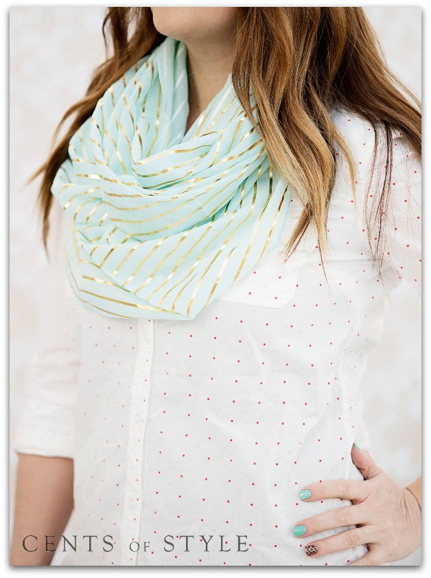 IMAGE: Fashion Friday- 3/14/14- Metallic Infinity Scarves- 60% off & FREE SHIPPING with Code GOLDEN