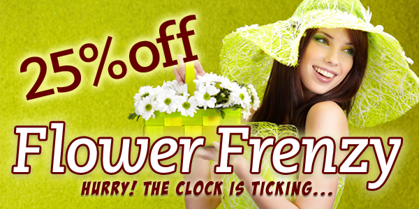 Save 25% OFF On All Flowers Frenzy Sale at ReadyFlowers.com.au