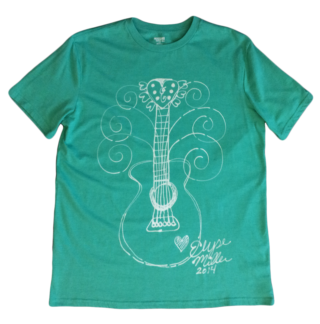 Whimsical Guitar T Shirt