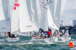 J/105s sailing around mark- Lipton Cup San Diego