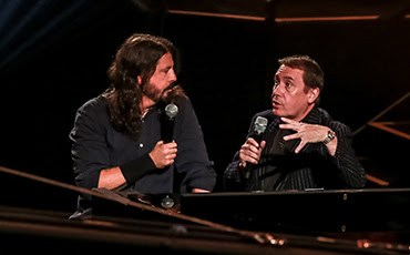 Dave Grohl and Jools Holland