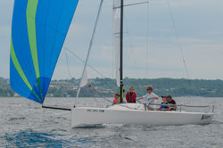 J/70 Little Traverse YC junior sailors at Ugotta Regatta