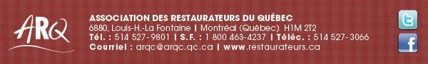 ASSOCIATION DES RESTAURATEURS DU QUÉBEC (www.restaurateurs.ca)