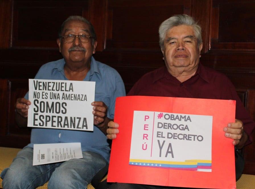 En Perú se solidarizan y acompañan a Venezuela en su demanda a Obama