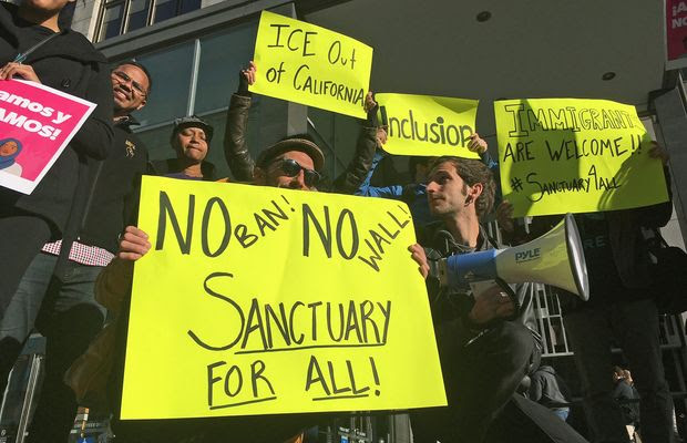 Supporters of sanctuary cities are finding friendly locales. The Federation for American Immigration Reform counts 564 states and municipalities that refuse cooperation with federal immigration authorities, up more than 200 since President Trump took office. (Associated Press)
