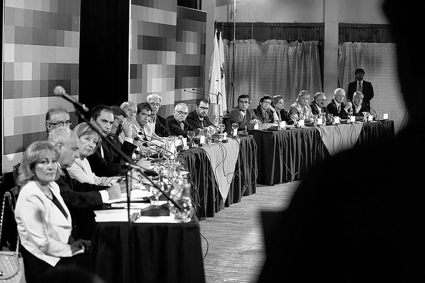 Consejo de Ministros ayer, en Melo, Cerro Largo. Poto: Pablo Nogueira