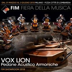 Pedane acustico-armoniche Vox Lion al FIM 2018