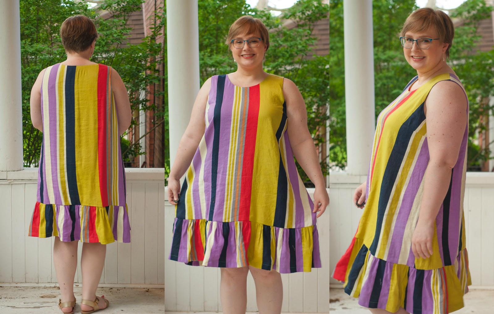 Linen Striped Ashton Dress
