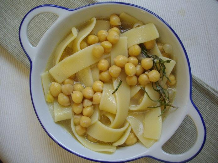 Recette italienne pâtes aux pois chiches