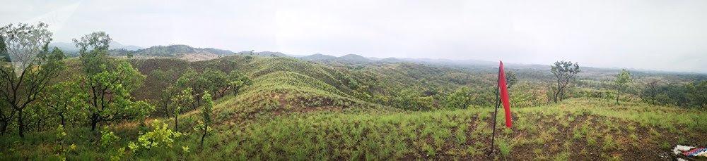 Vista general de los terrenos del campo de adiestramiento C/J José Laurencio Silva