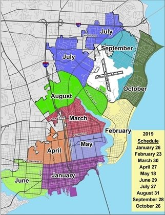 Map of Mayor's Neighborhood Cleanup program