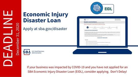 EIDL Deadline Dec. 31, 2020