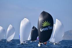 J/70 Green Flash sailing off San Diego