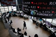 The Euronext Stock Exchange in the financial district of Paris. The company has offered to buy the French arm of the London Stock Exchange Group's majority-owned clearing business.