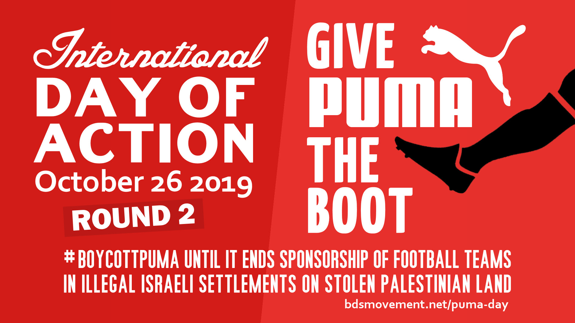 Second Global Boycott Puma Day of Action, Oct 26