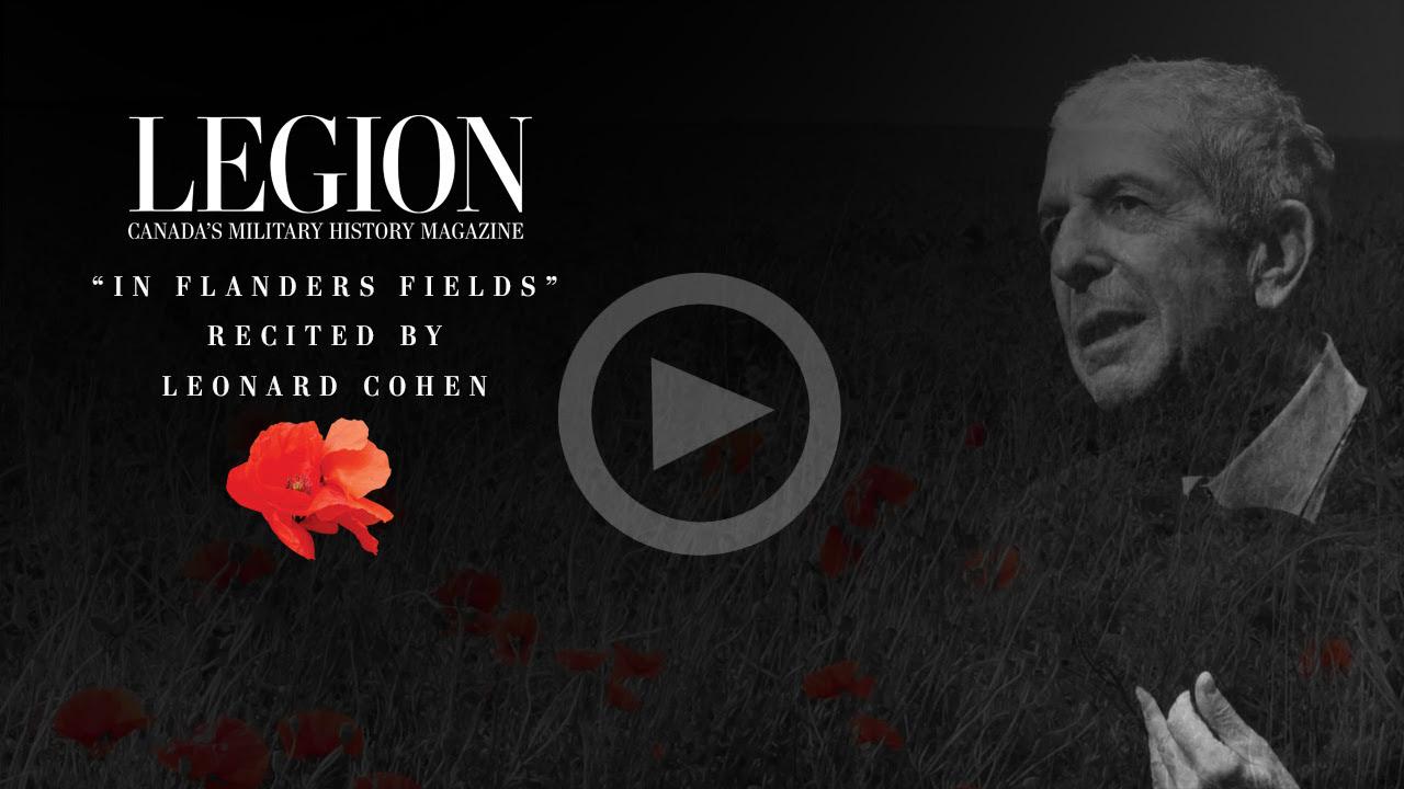 """""""In Flanders Fields"""" Recited by Leonard Cohen"""