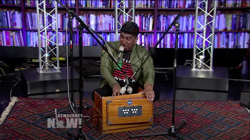 Zeshan B performs at Democracy Now!