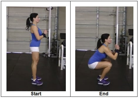 T2 RIGHT WAY to do a Bodyweight Squat (Side View)