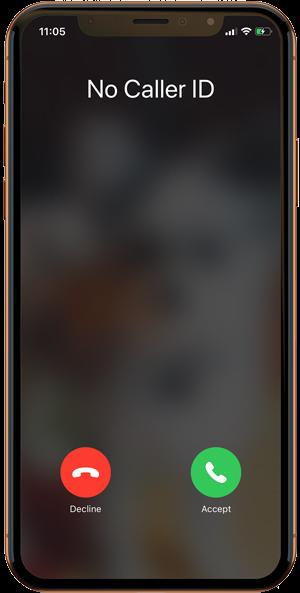 No caller ID screen