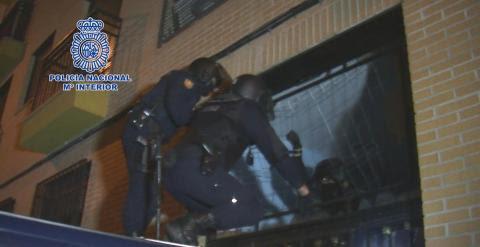 A los arrestados se les imputa pertenencia a organización criminal con fines terroristas- POLICÍA NACIONAL
