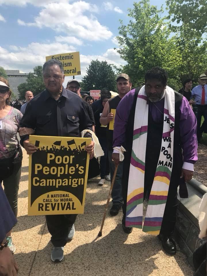 Rev. Jesse Jackson Sr. with Rev. Dr William Barber