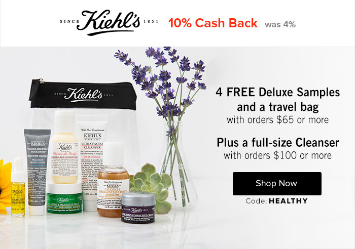 Kiehl's - 10% Cash Back