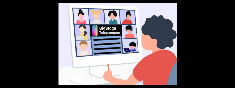 The BigStage Teleprompter prepares your supporters with questions and talking points in a virtual Town Hall meeting.