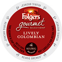 Folgers Lively Colombian Keurig K-Cup coffee pods