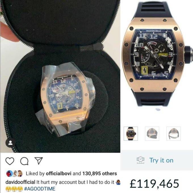 Davido: sa montre à 150 000 dollars pour la cérémonie de baptême de son fils remue la toile