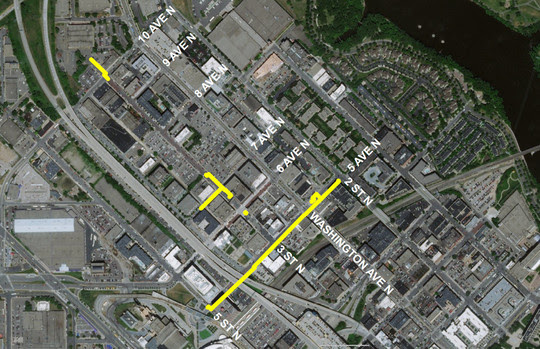 Map of CenterPoint Energy's North Loop Project