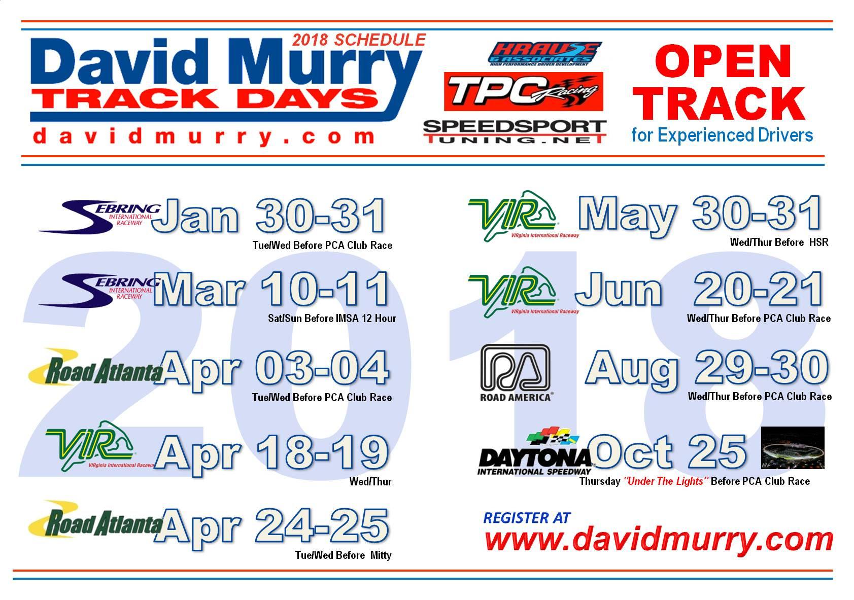 DMTD 2018 Full Schedule V2
